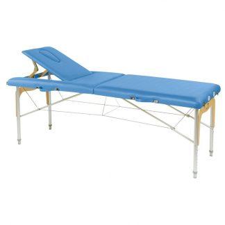 Hopfällbar massagebänk - Aluminium - 2-delad - 182x70 cm - Ryggstöd