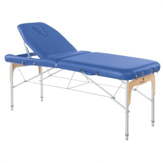 Foldable massage table (Alu) - 2 sections - 186x70 cm - Large backrest