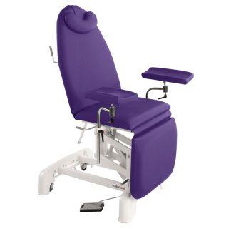 Elektrisk provtagningsstol - 3-delad med hjul - Multifunktionella armstöd