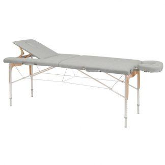 Hopfällbar massagebänk (aluminium) - 2-delad - 182x70cm - Rygg-/ansiktsstöd