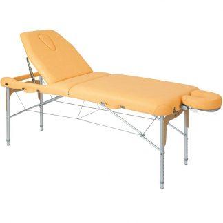 Hopfällbar massagebänk (Aluminium) - 2-delad - 186x70 cm