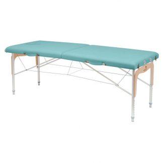 Hopfällbar massagebänk (Alu) - 2-delad - 182x70 cm - Justerbar höjd