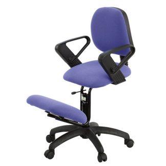 Ergonomical knee chair with back and armrests (adjustable armrests)
