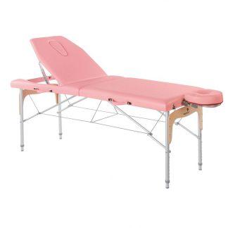 Hopfällbar massagebänk (Aluminium - 2-delad - 182x70 cm - Stort ryggstöd