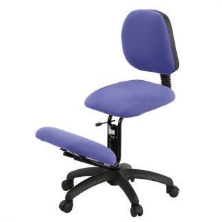 Ergonomical knee chair with backrest - Sitting width 44 cm