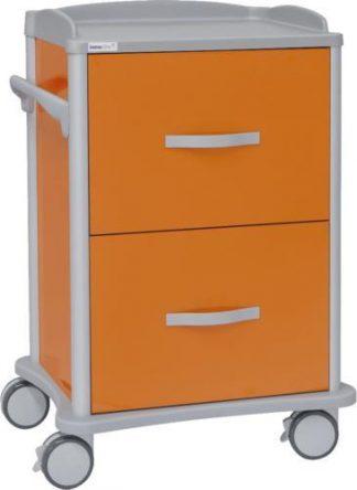 Multifunktionell sjukhusvagn - 2 lådor för journalmappar