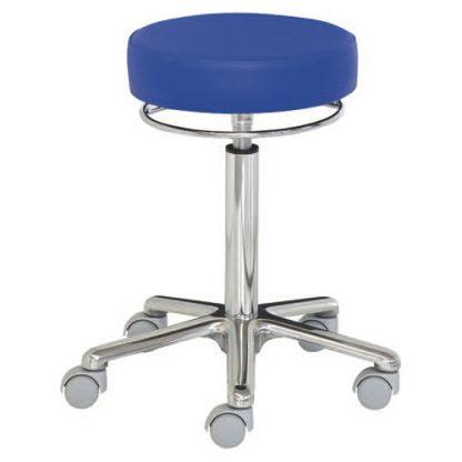 Rund stol med aluminiumbas - 360 graders höjdjustering