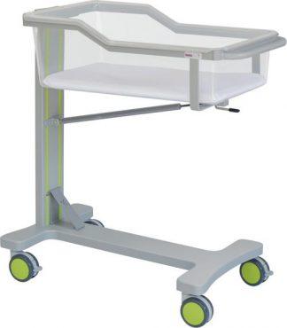 Spädbarnssäng med hjul för neonatologi - Trendelenburgläge - 90x47x97 cm