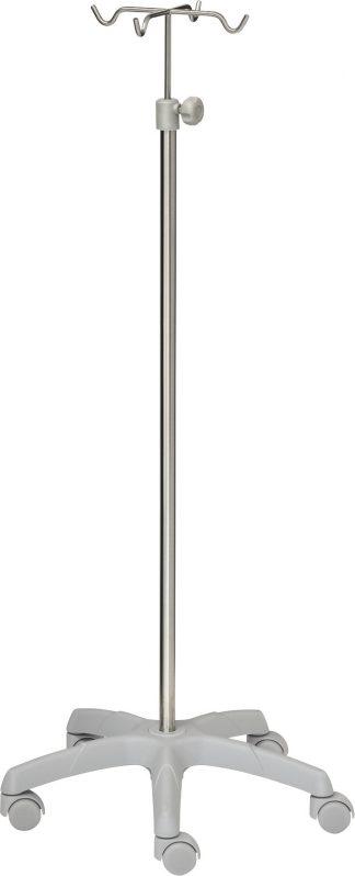 Droppställ - 4-krokar - Rostfritt stål - Stor aluminiumbas