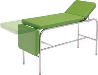 Stationary treatment table - 3 sections - Chromed steel