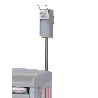 Tvåldispenser anpassad för montering på sjukhusvagn