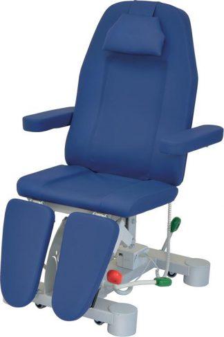 Hydraulisk fotvårdsstol - 3-delad med armstöd och hjul