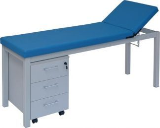 Stationary treatment table - 2 sections - 1 trolley with 3 drawers