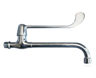Wall mounted sink faucet for elbow usage