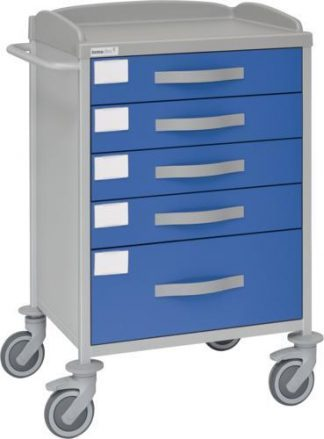 Multifunctional hospital trolley - 4 1 drawers - 62x53x100 cm