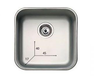 Handfat i rostfritt stål - 40x45x17 cm