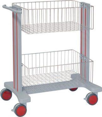 Multifunktionell sjukhusvagn med 2 korgar