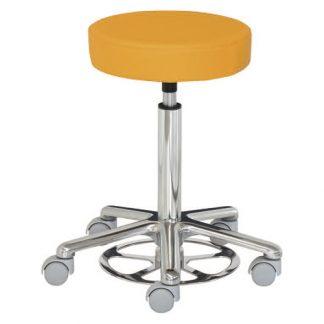 Rund stol - Fotmanövrerad - Aluminiumbas