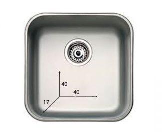 Handfat i rostfritt stål - 40x40x17 cm