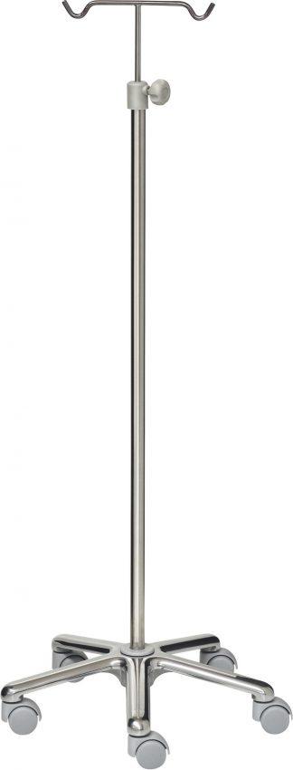 Droppställ - IV Stand - 2-krokar - Aluminium-bas