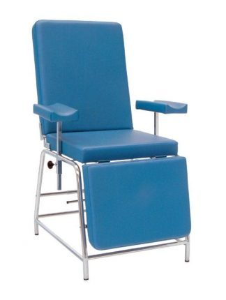 Stationary sampling chair with adjustable armrests - Steel structure