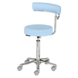 Kirurgstol / operationsstol med justerbart armstöd - Aluminiumbas