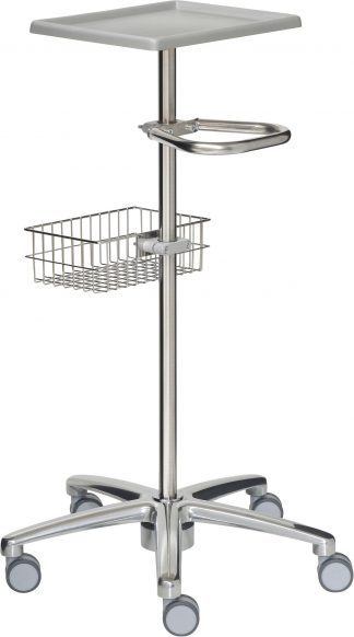 Trolley for equipment made out of stainless steel