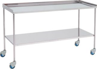 Trolley for surgical instruments - Top edge with 3 sides - 140 cm wide