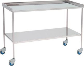 Trolley for surgical instruments - Top edge with 3 sides - 120 cm wide