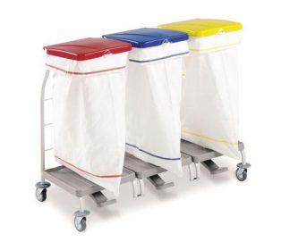 Klädvagn - 3 x 70 Liters säck av polyester