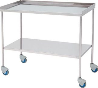 Trolley for surgical instruments - Top edge with 3 sides - 100 cm wide