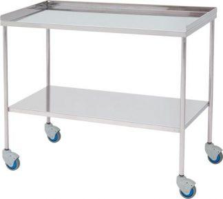 Vagn för kirurgiska instrument - Övre kant på 3 sidor - 100 cm bred