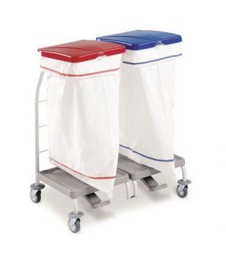 Klädvagn - 2 x 70 Liters säck av polyester