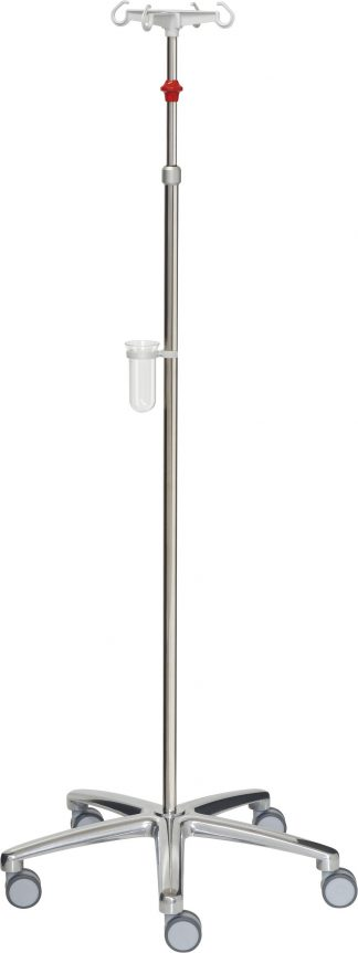 Droppställ - 4 krokar - Tubdiameter 25 / 18 mm - Röda och gråa detaljer