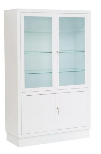 Instrument cabinet - 100x40x160 cm - White finish