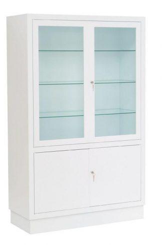 Instrument cabinet - 100x40x160 cm - White finish