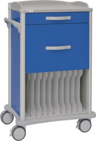 Multifunktionell sjukhusvagn - 1 1 lådor - 11 fack för röntgen (360x430 mm)