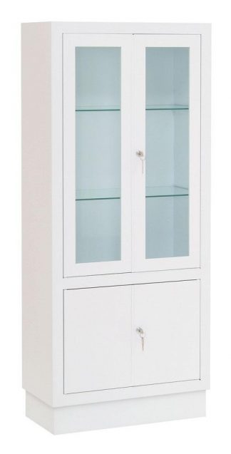 Instrument cabinet - 60x30x140 cm - White finish