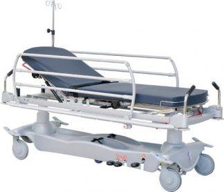 Hydraulisk patient- och akutvagn - 2-delad - Många funktioner