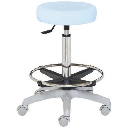 Rund stol med fotstöd - Platt yta