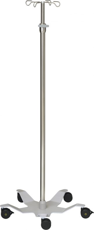 Droppställ och infusionspump - 4-krokar - Tubdiameter 33/25 mm - Designbas