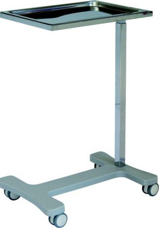 Side trolley with wheels - Mayo - Stainless steel - Length 70 cm