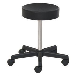 Låg stol med hjul - Höjden justeras med skruv - PVC-bas