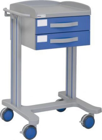 Multifunktionell sjukhusvagn med 1 hyllplan - 2 lådor