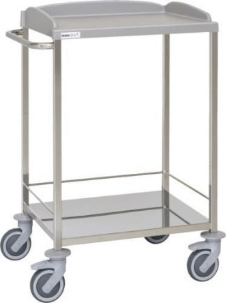 Multifunctional hospital trolley - 2 shelves