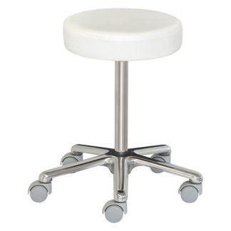 Låg stol med hjul - Höjden justeras med skruv - Aluminiumbas