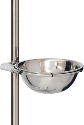 Drip bowl with screw bracket for quick mounting