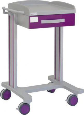 Multifunktionell sjukhusvagn med 1 hyllplan - 1 låda