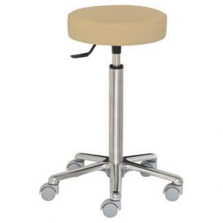Rund stol med aluminiumbas