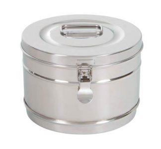 Cylindrisk steriliseringsbehållare i rostfritt stål - Ø 20×14 cm